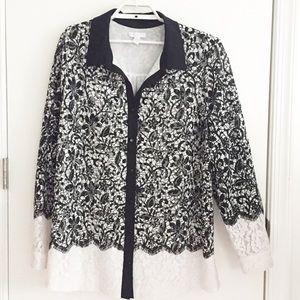 Charter Club Lace Shirt Size 3X